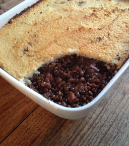 Vegetarian Lentil Pie (with cauliflower mash!)