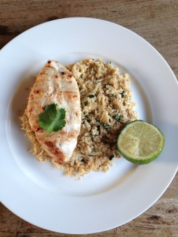 Coconut Chicken with Cauliflower rice