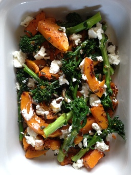 Roasted Squash with Goats cheese