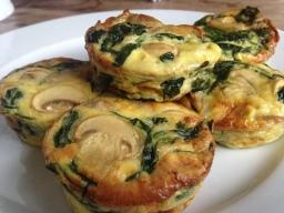 Mushroom Egg & Spinach breakfast bites