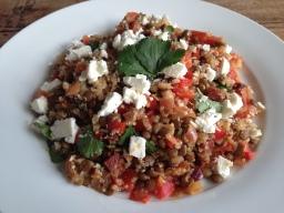Quinoa, Feta & Chorizo Salad