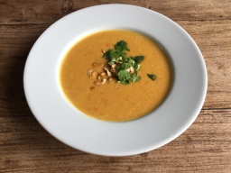 Carrot & Coconut Soup -Vegan